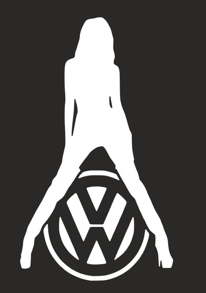 логотип фольксвагена с девушкой фото