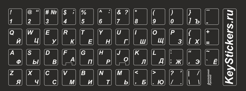 Русские буквы на клавиатуре своими руками 79