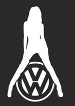 Наклейка на автомобиль Девушка с логотипом Volkswagen