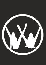 Наклейка на автомобиль логотип Фольксваген