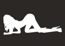Наклейка на автомобиль Девушка на коленках