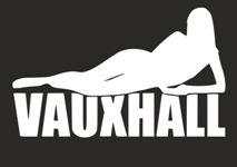 Наклейка на автомобиль Девушка на лого Vauxhall Воксхолл