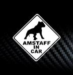Наклейка на автомобиль стаффордширский терьер в машине