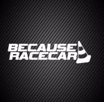 Because racecar / Потому, что гоночный автомобиль