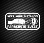 Keep your distance parachute eject