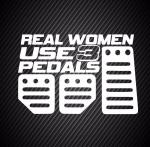 Real woman use 3 pedals / Правильная женщина использует 3 педали