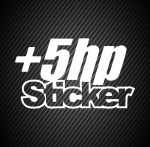 + 5 hp Sticker / Наклейка + 5 лошадиных сил