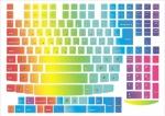 Наклейки на клавиатуру Радуга 2