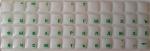 Силиконовые наклейки  на клавиатуру прозрачный фон зелёные буквы