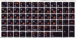 Силиконовые наклейки  чёрный фон оранжевые/белые буквы + функц.