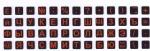 Мини наклейки на клавиатуру оранжевые буквы на чёрном фоне