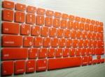 Накладка силиконовая красная с латиницей и кириллицей для Mac