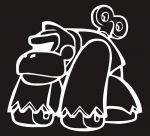 Наклейка на авто Заводная горилла