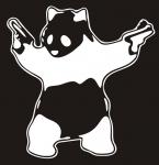 Наклейка на авто Ганста панда