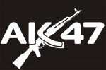 Наклейка на авто АК47