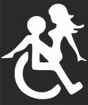 Наклейка на авто Инвалид