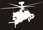 Наклейка на авто Вертолёт