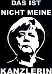 Наклейка на машину Меркель не мой канцлер (На немецком)