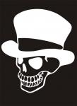 Наклейка на машину Череп в шляпе
