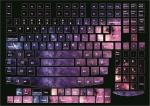 Наклейки на клавиатуру Космос только английская раскладка