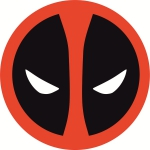Наклейка эмблема Deadpool (Дэдпул)