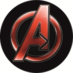 Наклейка эмблема Avengers (Мстители)
