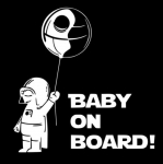 Ребёнок в машине Дарт Вейдер / Baby on board Darth Vader