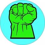 Наклейка Логотип Халк