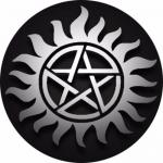 Наклейка сверхъестественное тату  / Supernatural Blue tatu