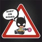 Ребёнок в машине Бэтмен