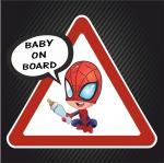 Ребёнок в машине Человек паук