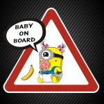 Ребёнок в машине Миньон девочка