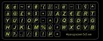Зелёные мини наклейки на клавиатуру с французским языком