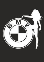 Наклейка на автомобиль Логотип БМВ