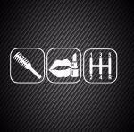 Hairbrush, lipstick, gearbox / Расческа, помада, коробка передач