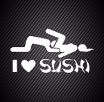 I love sushi / Я люблю суши