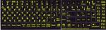 Наклейки флуоресцентные черный фон рус/анг