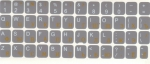 Наклейки на клавиатуру 112 сим. серый фон рус/лат оранж./бел. Pl