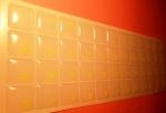 Силиконовые наклейки  на клавиатуру прозрачный фон лимон буквы