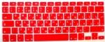 Накладка силиконовая красная с латиницей и кириллицей для Mac (Евро)