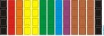 Наклейки разноцветные без букв