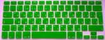 Накладка силиконовая салатовая с латиницей и кириллицей для Mac (Евро)