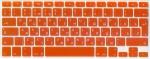 Накладка силиконовая оранжевая с латиницей и кириллицей для Mac (Евро)