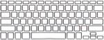 Накладка силиконовая прозрачная с чёрной обводкой для Mac