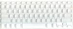 Накладка силиконовая прозрачная с белой обводкой для Mac