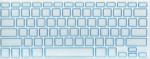 Накладка силиконовая прозрачная с синей обводкой для Mac