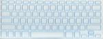 Накладка силиконовая прозрачная с голубой обводкой для Mac
