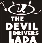 Наклейка на авто Дьявол водит Лада