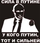 Наклейка на авто Сила в Путине