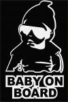 Наклейка на машину Ребёнок в машине / Baby on board